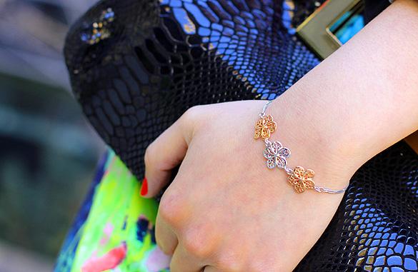 Floral Mesh Bracelet
