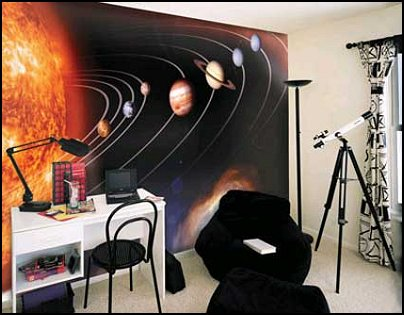 Solar System Wall Murals For Space Theme Bedrooms