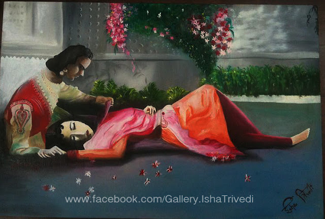 "Mughal-e-azam Painted by Isha Trivedi ""Isha Trivedi"""