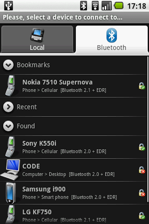 download Bluetooth File Transfer for android ~ garra4soft