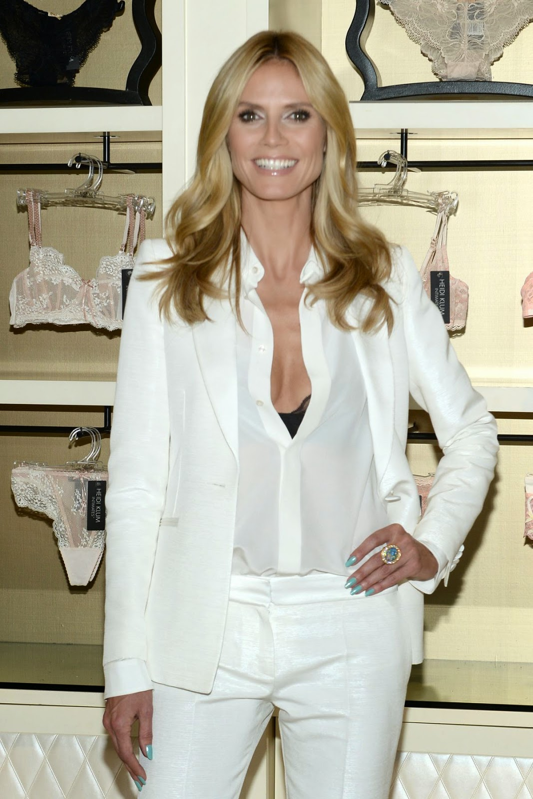 Actress, Television Host, Fashion Designer, Model @ Heidi Klum At Heidi Klum Intimates Lingerie Collection Launch In New York