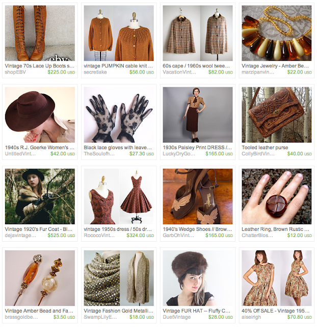 Chocolate Vintage Gift Guide on Etsy #vintage #fashion #jewelry #chocolate