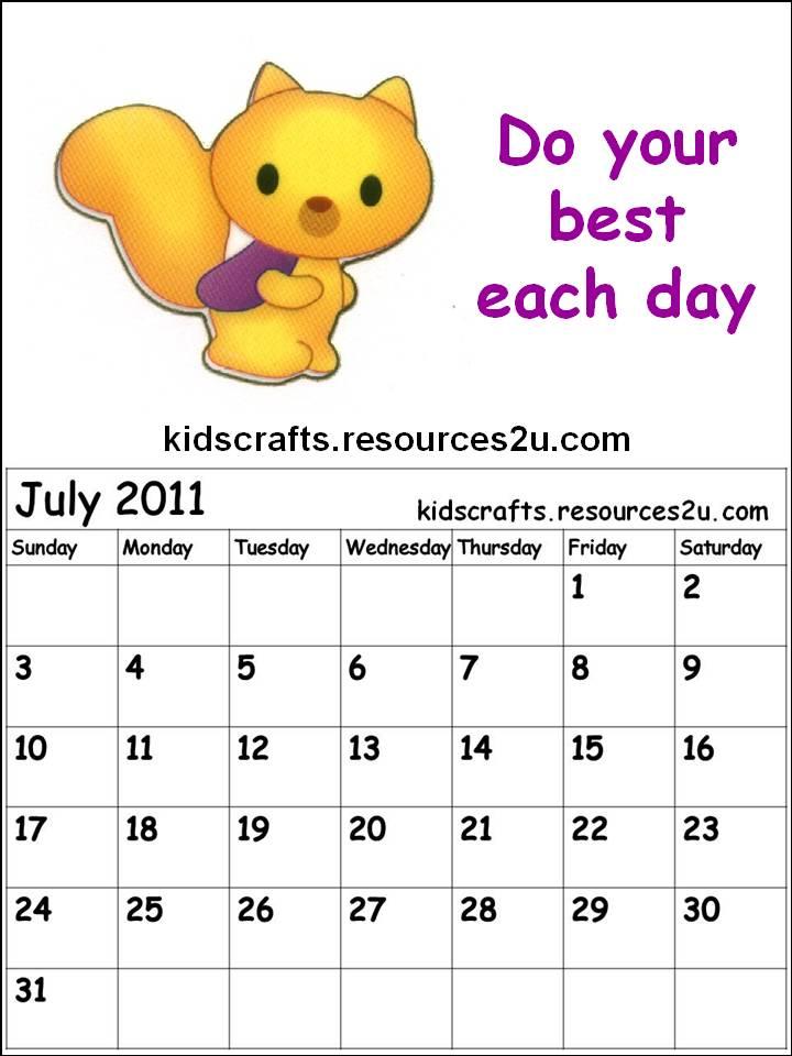 Blank Calendar Cartoon : July calender cartoon new calendar template site