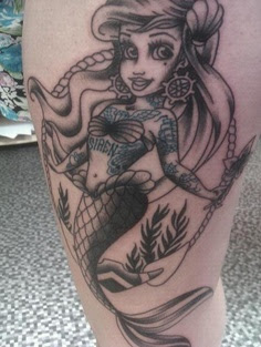 Disney Punk Ariel Tattoo