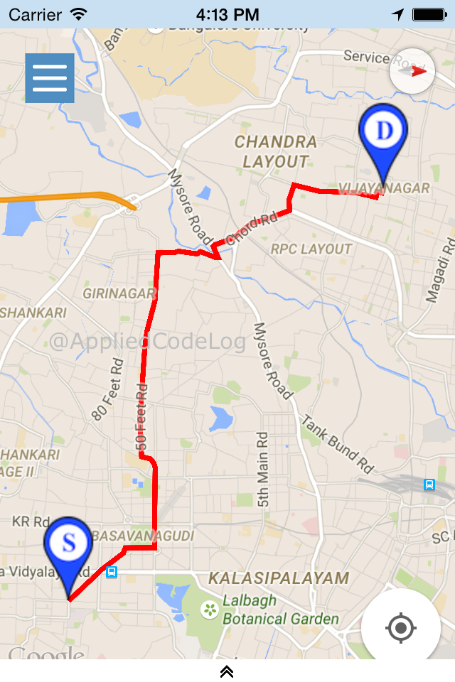 Drawing Lines Google Maps : Xamarin ios draw route between two geo location in google
