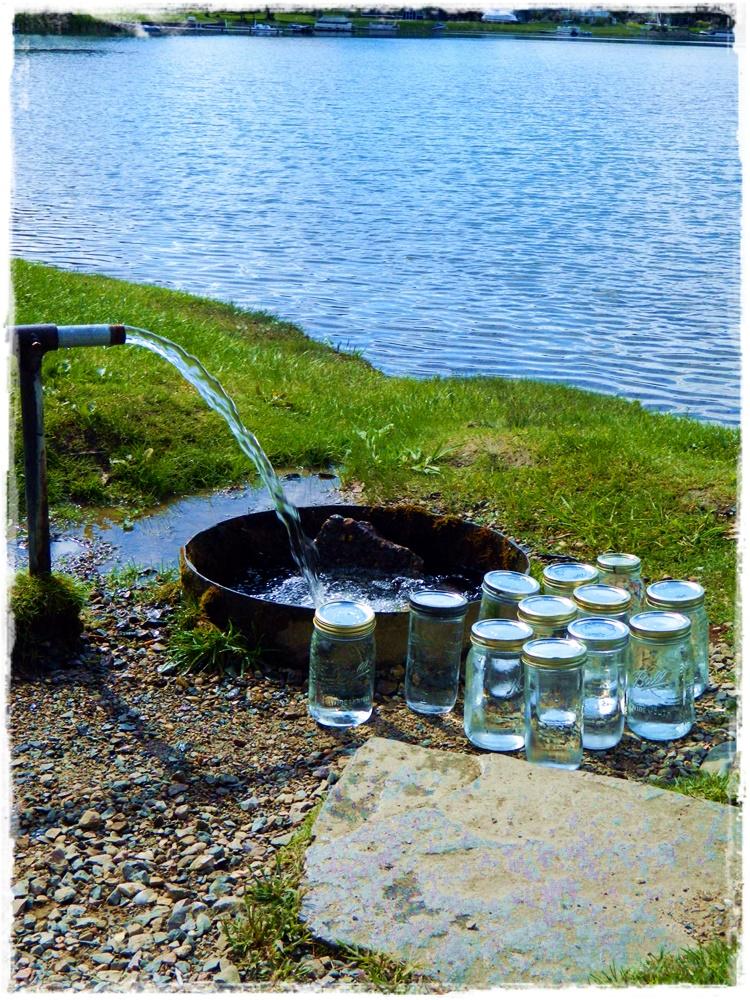 spring water, yum! ... plus: how to find a spring!