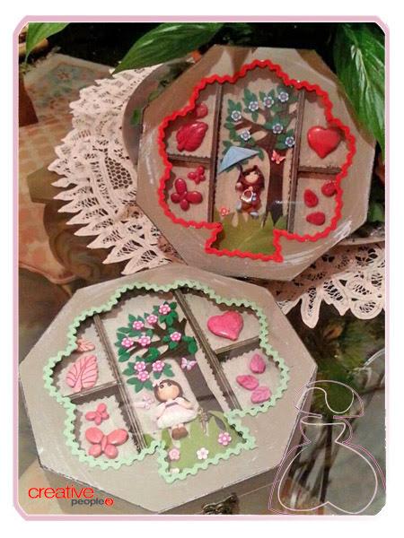 Cajita-joyero de madera decorada a mano por Sylvia Lopez Morant en diferentes modelos y colores
