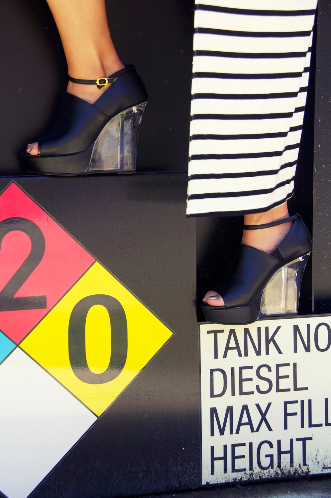 Esperenza black and clear heels tokyo