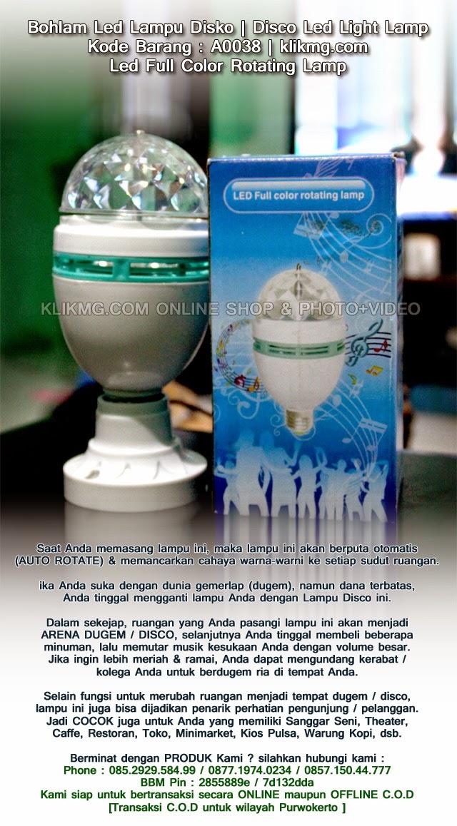 Bohlam Led Lampu Disko | Disco Led Light Lamp - Kode Barang : A0038 | Led Full Color Rotating Lamp