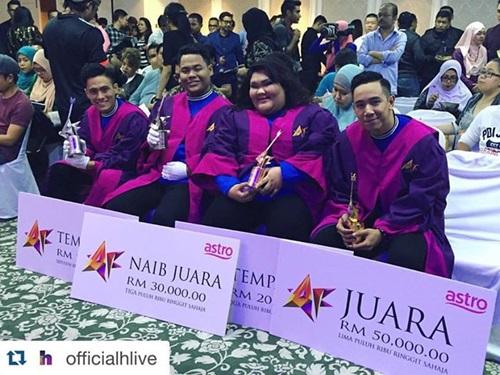 Pemenang Akademi Fantasia AF 2015, juara AF 2015, gambar pemenang AF 2015, lagu single terbaru finalis Akademi Fantasia AF 2015