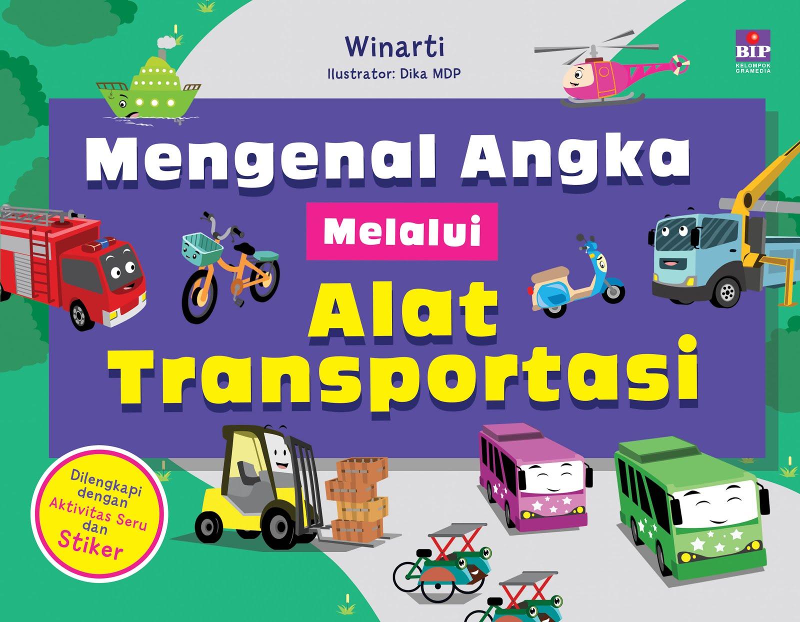 Buku Mengenal Angka melalui Alat Transportasi