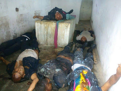 dead bodies of police killed in kailali