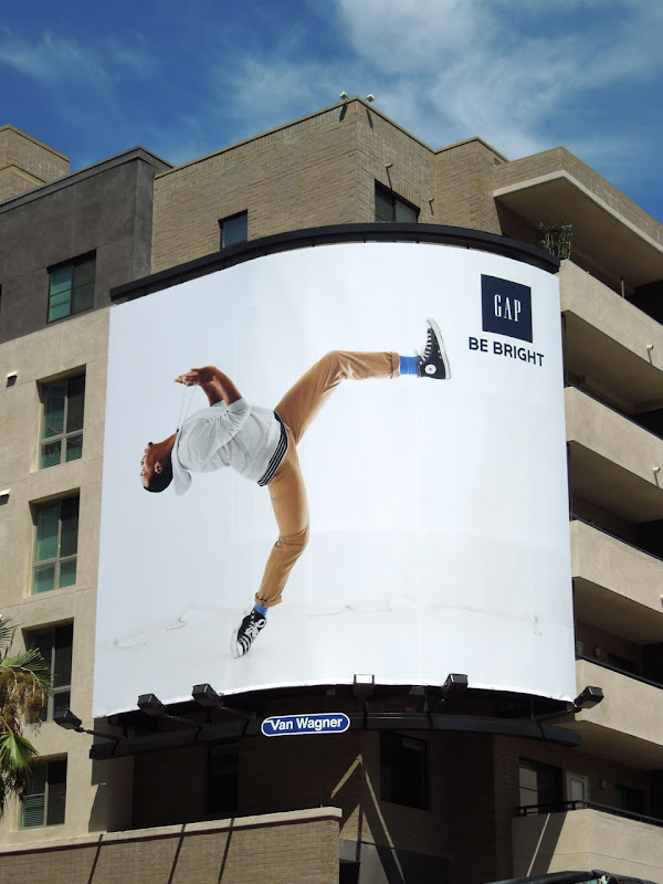 Gap Lil Buck backflip billboard Hollywood