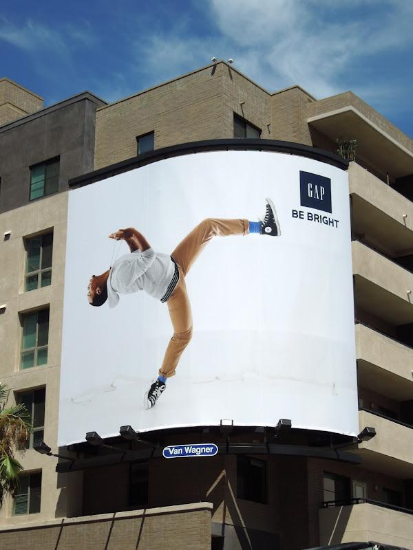 Gap Lil Buck backflip billboard Hollywood