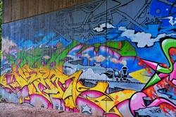Graffiti in der Unterführung...