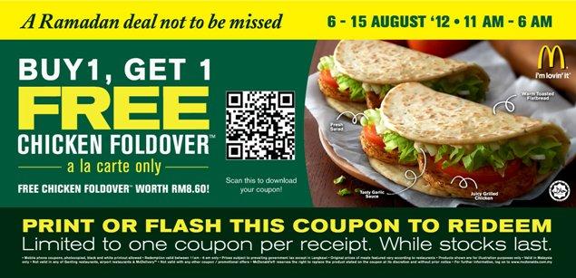 kupon ramadan mcdonalds chicken foldover beli percuma 1