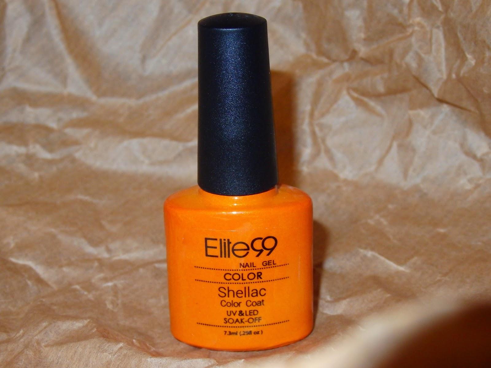 esmalte naranja brillante