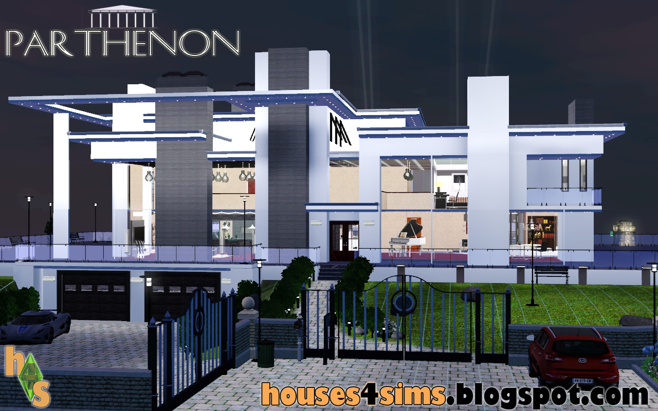 Houses 4 sims august 2011 for Modern house sushi 9 deler sett