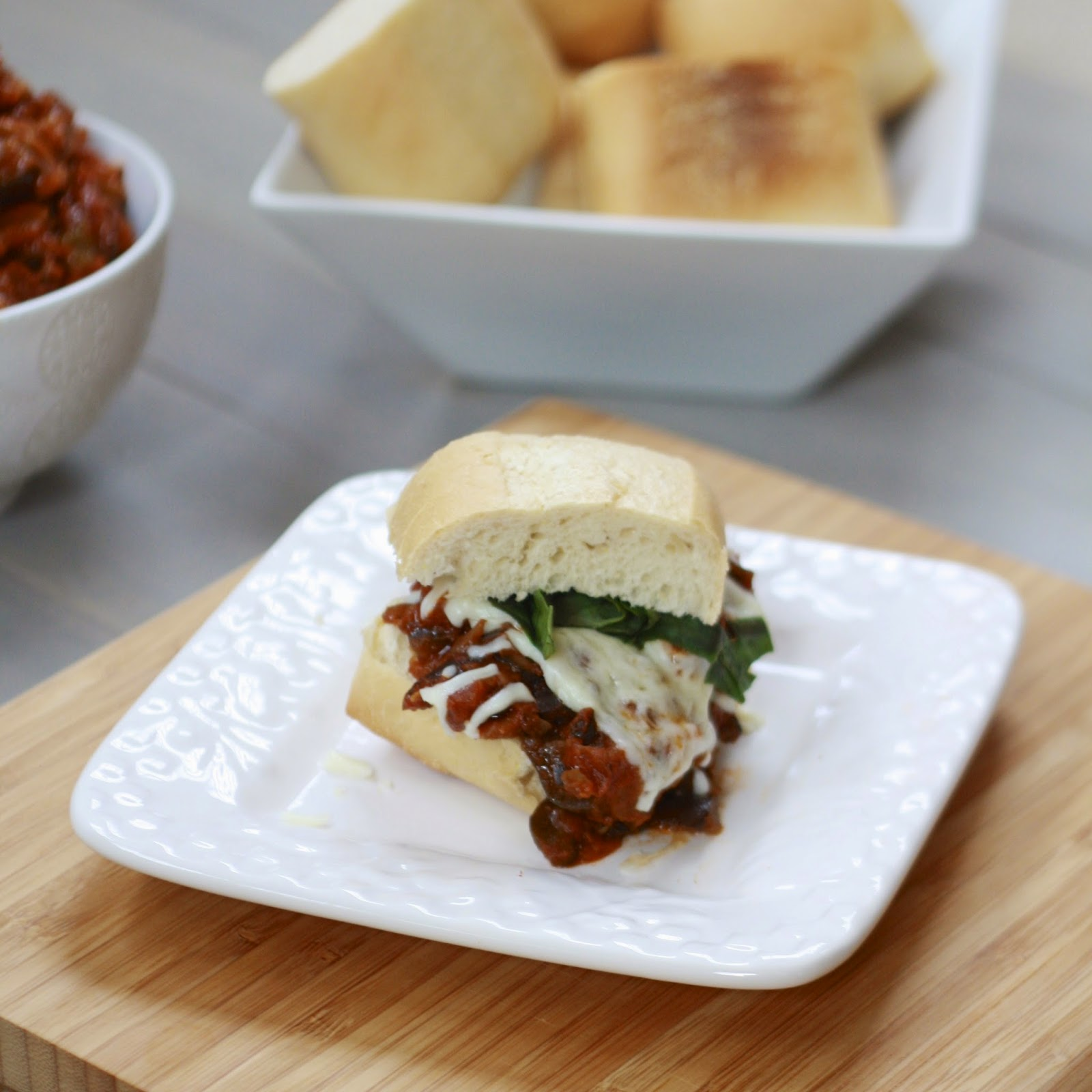 Eggplant Caponata Sandwiches | The Sweets Life