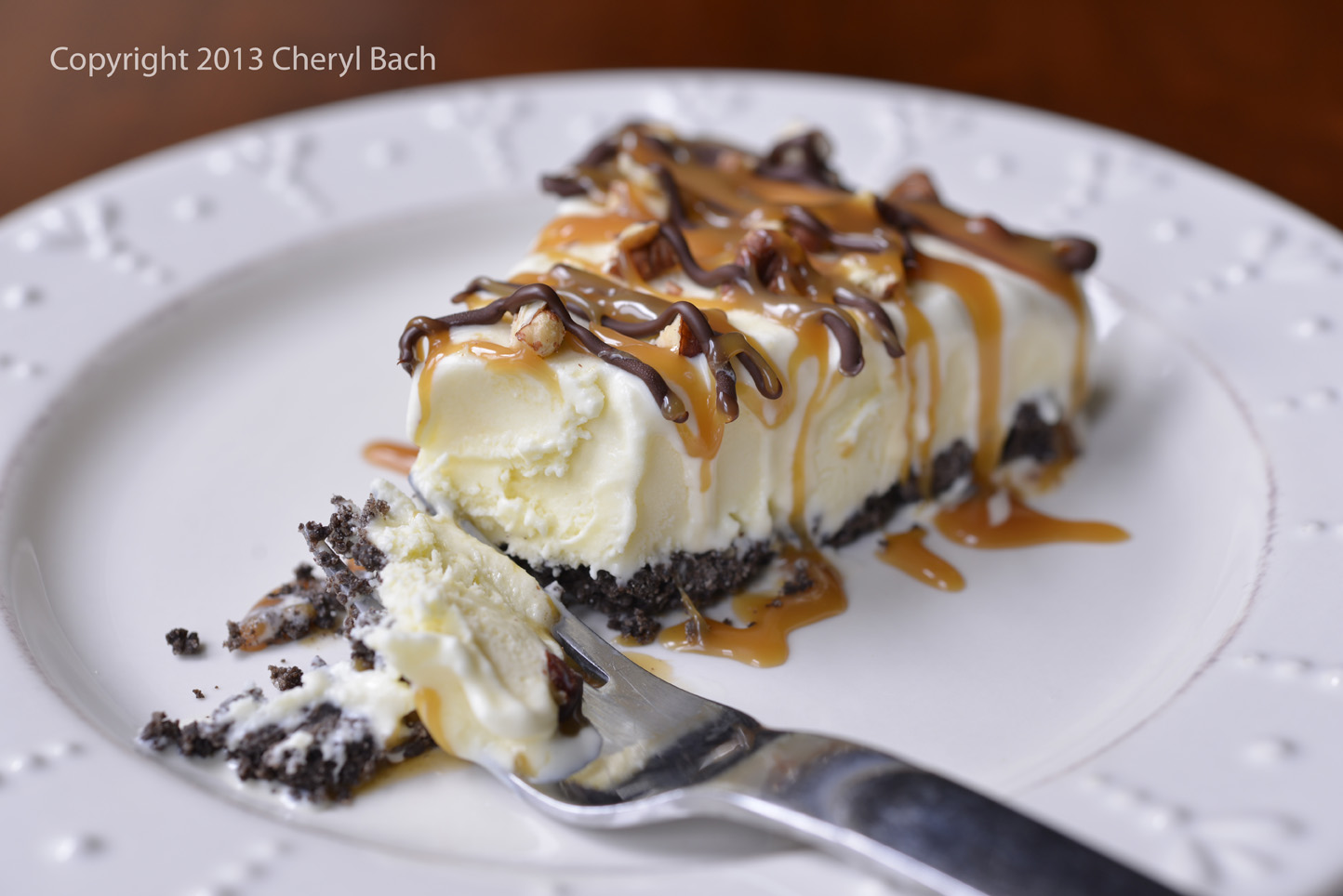 cheryl bach: Ice Cream Sundays - {turtle cheesecake}