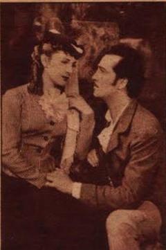 Amanda Ledesma y Hugo del Carril en la pelicula: La novela de un hombre joven