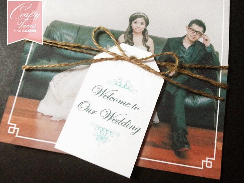 Post Card Themed Wedding Invitation Card in Malaysia