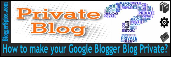 private blog