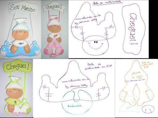 Molde de bebé para baby shower en foami - Imagui