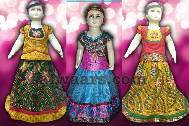 3 Years Kids Banaras Lehengas