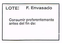 Etiqueta adhesiva para Lote