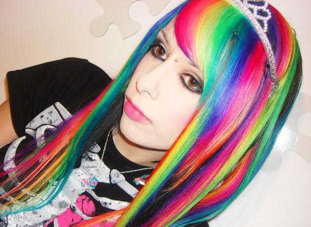 chicks with rainbow hair. ign