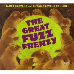 http://www.amazon.com/Great-Fuzz-Frenzy-Janet-Stevens/dp/0152046267/ref=sr_1_1?ie=UTF8&qid=1404250688&sr=8-1&keywords=the+great+fuzz+frenzy