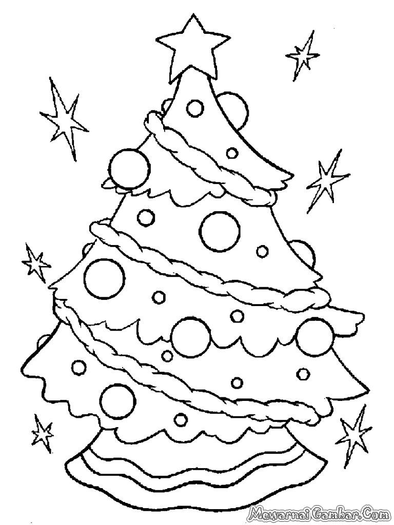 pohon natal untuk diwarnai anak anak untuk menambah aroma natal yang
