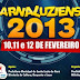 """Programação oficial do """"Carnaluziense 2013"""""""