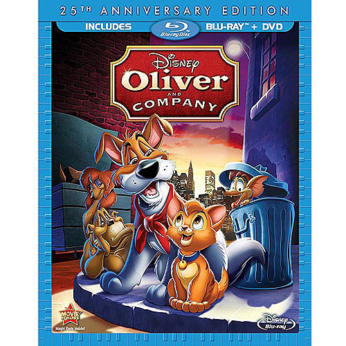 Oliver & Company Blu-ray cover animatedfilmreviews.blogspot.com