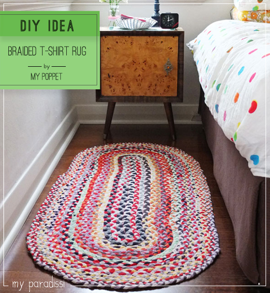 DIY: Braided T-shirt Rug