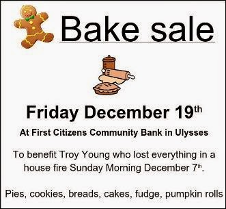 12-19 Bake Sale Benefit
