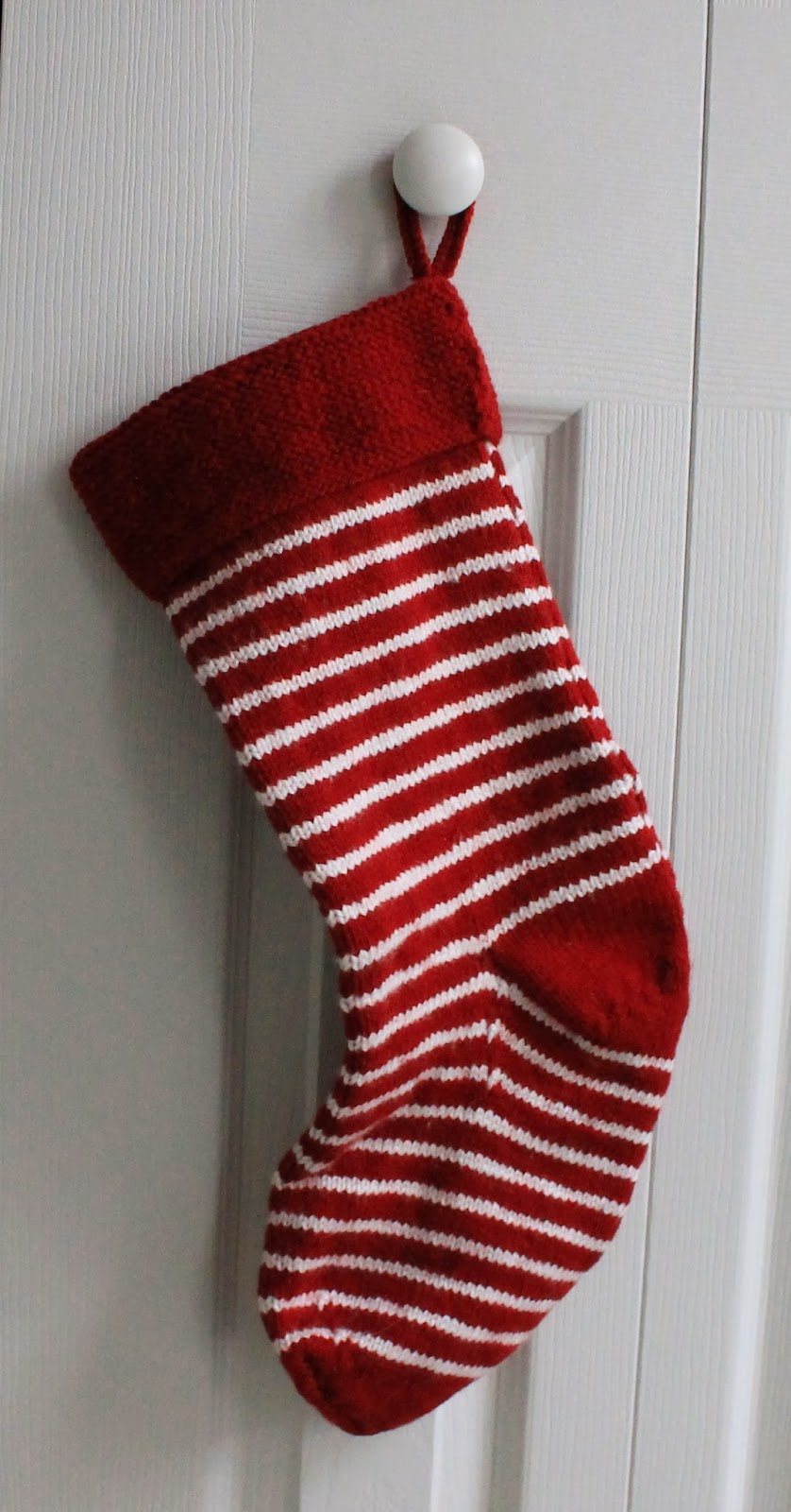 Christmas Stocking Knitting Pattern Straight Needles : Meg joins the navy knitting christmas stockings