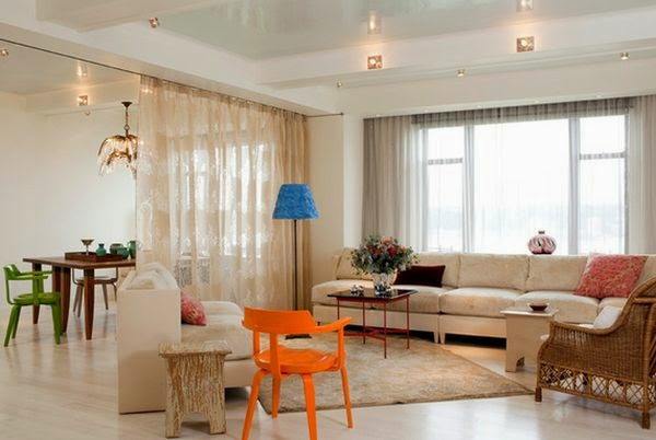 Hor to use room divider curtains as temporary room dividers