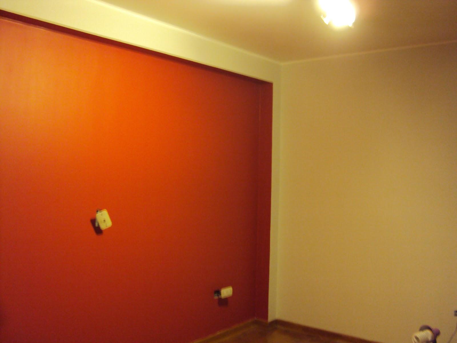 Pintandoelperu trabajo realizado por el rimac - Pared naranja combina con ...