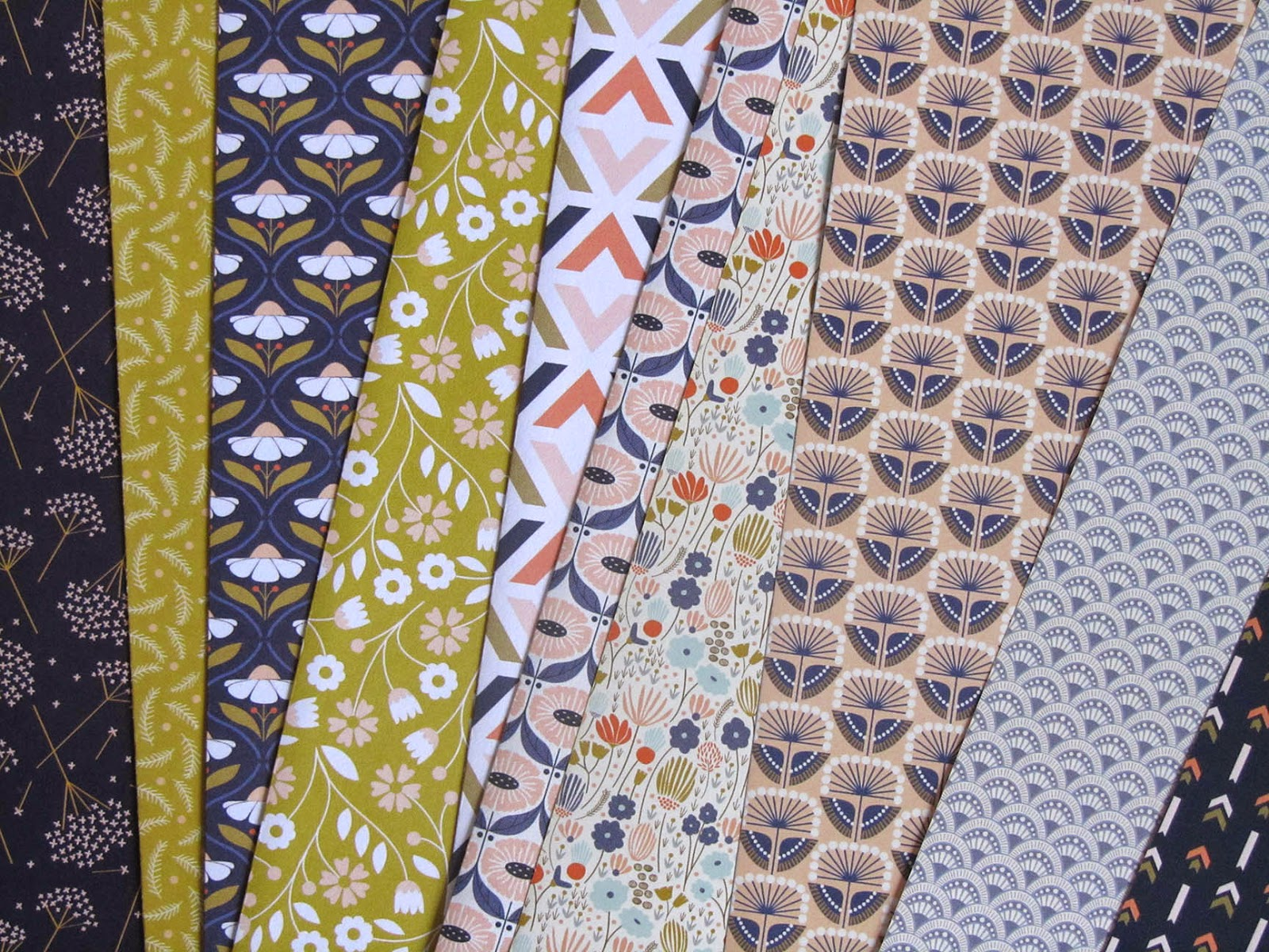 patterned paper designed by Elizabeth Olwen