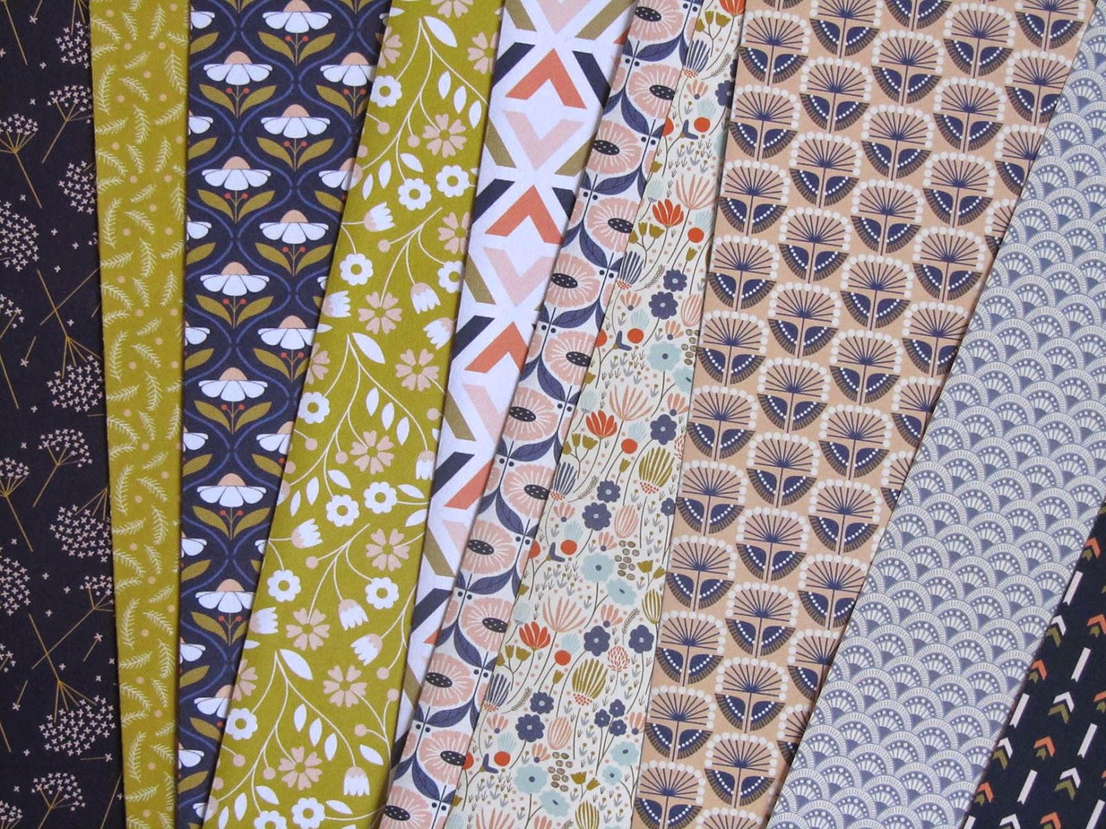 patterned paper designed by Elizabeth Olwen