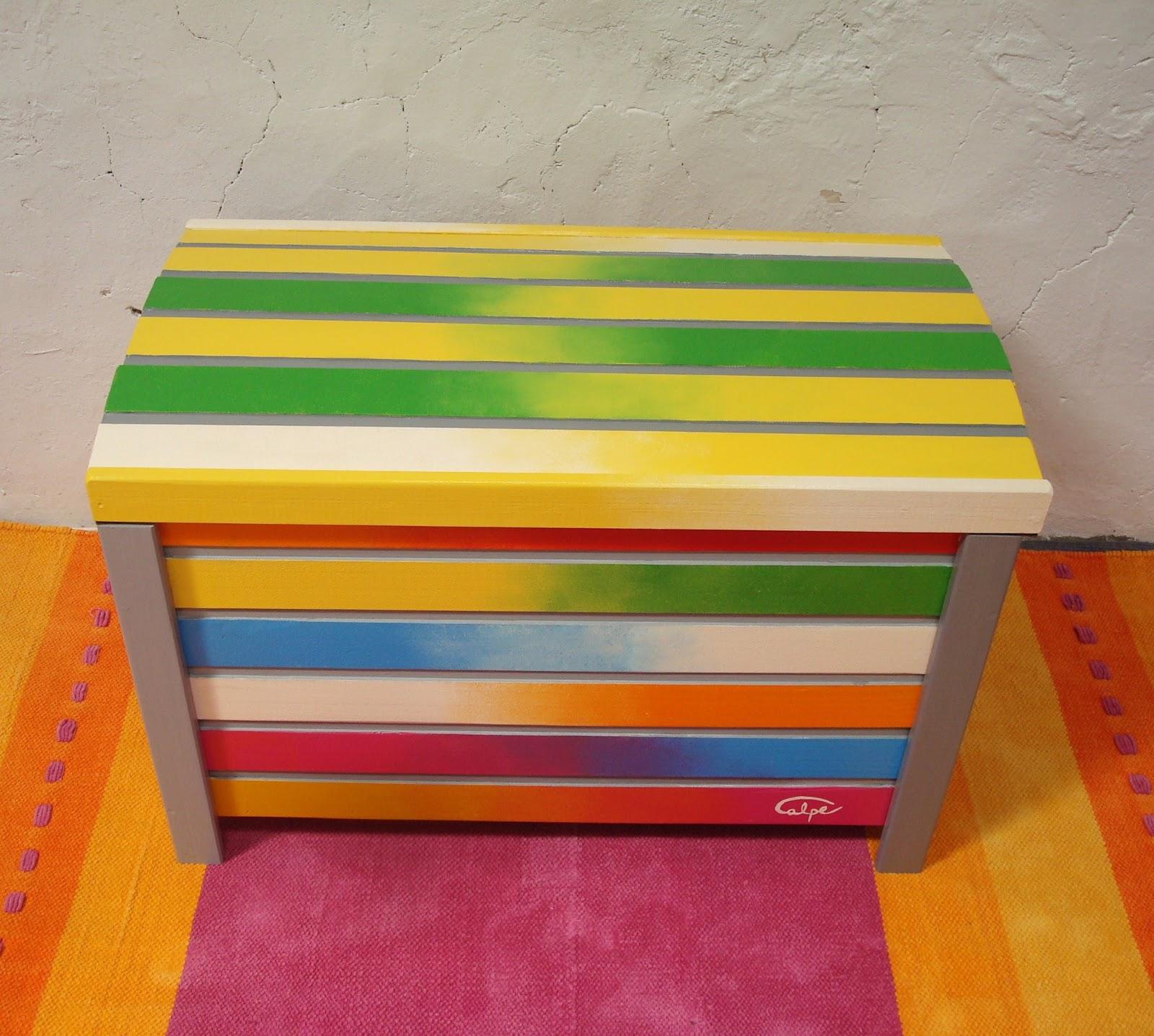 Calpearts muebles y accesorios pintados a mano - Muebles de colores pintados ...