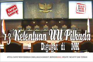 13 ketentuan UU Pilkada digugat di MK