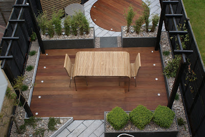 Small courtyard style contemporary garden design