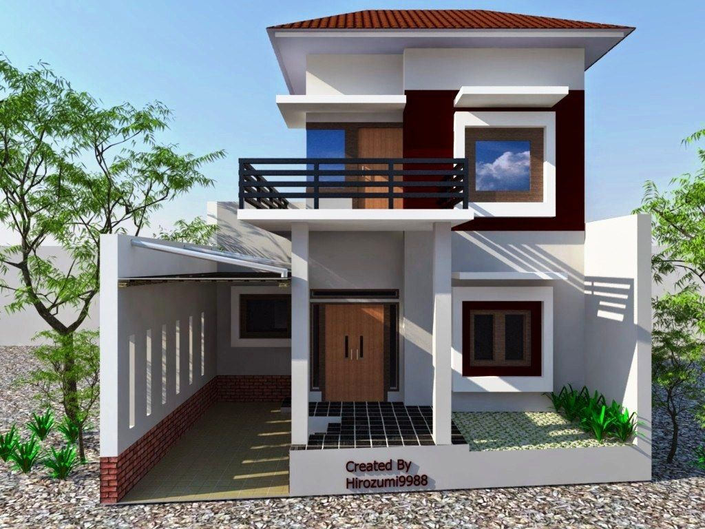 75 Model Desain Rumah Minimalis 2 Lantai Sederhana Modern