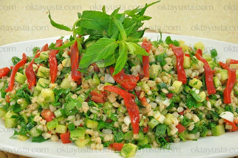 Kabaklı Buğday Salatası Tarifi