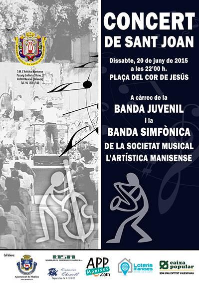 20.06.15 CONCERT DE SANT JOAN, PLAÇA COR DE JESÚS