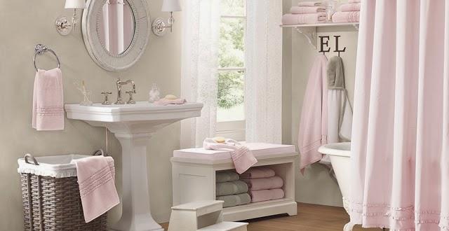 Azulejos Baño Color Rosa:Baños en rosa y gris – Colores en Casa