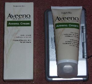 Aveeno cream and box.